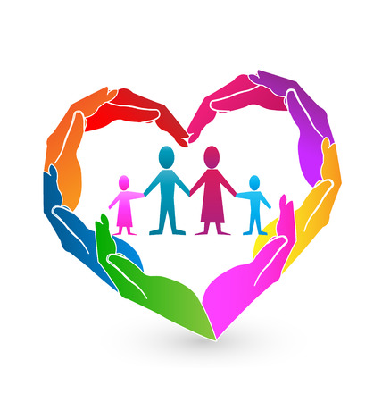 26495716 - family heart hands icon